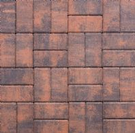 200x100x50mm THICK RECTANGULAR BLOCK PAVING, BURNT OCHRE